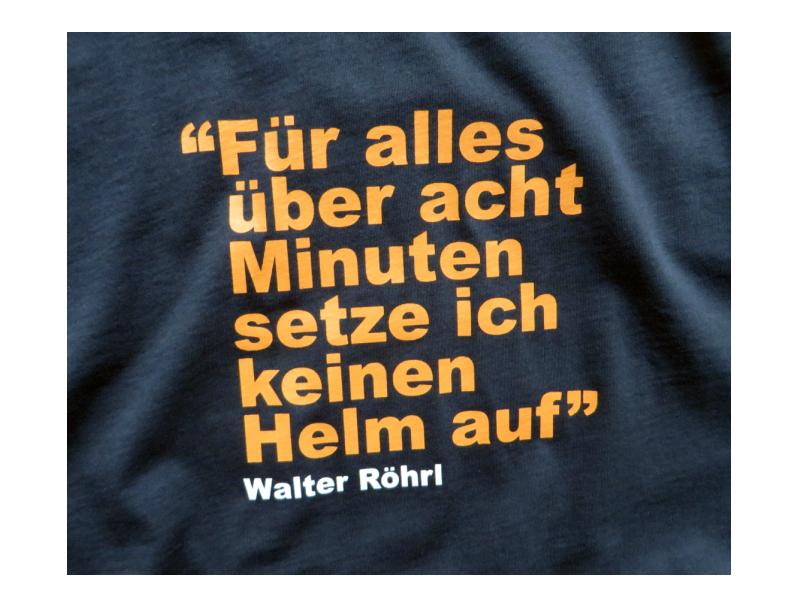 Maxpart Racing Walter Rohrl Collection T Shirt Rundenzeit Blau